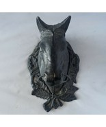 Vintage Ocala Horse Door Knocker Antique Black Solid Metal Home Farm Cab... - $151.12