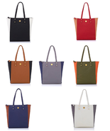 Joy Mangano Handbags Rich Leather Colorblock Tote with Power of RFID Pro... - $19.79+