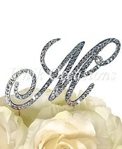 """Victorian Collection Monogram Rhinestone Cake Topper - Large - Silver (4.75"""" Tal - $19.55"""