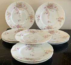 Antique Theodore Haviland Limoges Set of 9 Salad Plates - $249.00