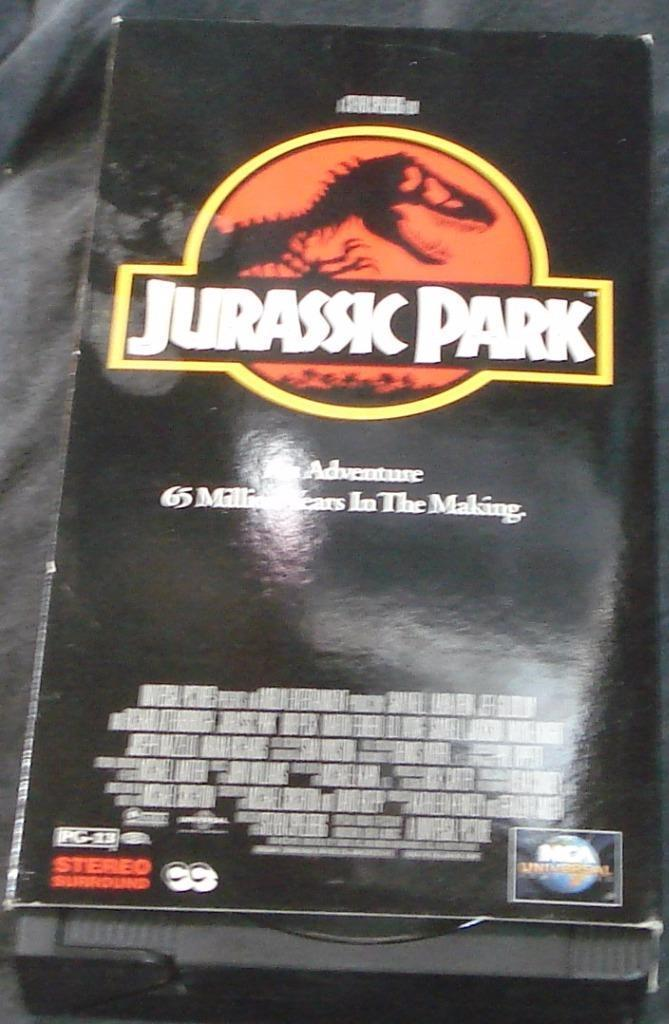 Jurassic Park - Gently Used VHS Video - Jeff Goldblum, Sam Neill, L. Dern - VGC