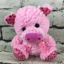 "Homerbest Pink Pig Piglet Plush 7"" Stuffed Animal Shimmer Trim Soft Toy - $9.89"