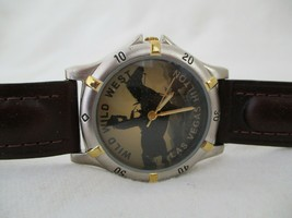 Wild Wild West Las Vegas Hilton Watch Brown Buckle Band Silver Toned - $29.00