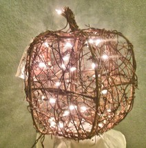 "Lighted Twig Pumpkin 12"" - £12.16 GBP"