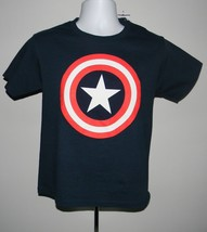 Kids Boys Marvel Captain America Medium T Shirt Blue Star Shield Logo - $16.78