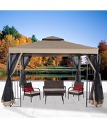 Garden Gazebo Canopy 10' x 10' Patio Double Roof Vented w/ Mosquito Nett... - $269.99