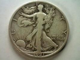 1921-S WALKING LIBERTY HALF DOLLAR F/VF FINE / VERY FINE NICE ORIGINAL COIN - $495.00