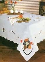 """NEW Leaf with Acorn 60"""" x 104"""" Oblong Tableclot... - $24.30"""