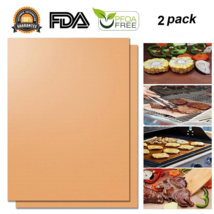 Hirundo Non-stick BBQ Baking Mats (Golden,2 packs) -Reusable & Easy to C... - £7.87 GBP