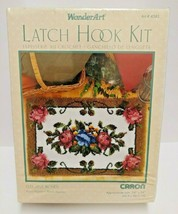 """Caron WonderArt Latch Hook Kit Elegant Roses 24"""" x 34"""" - $32.71"""