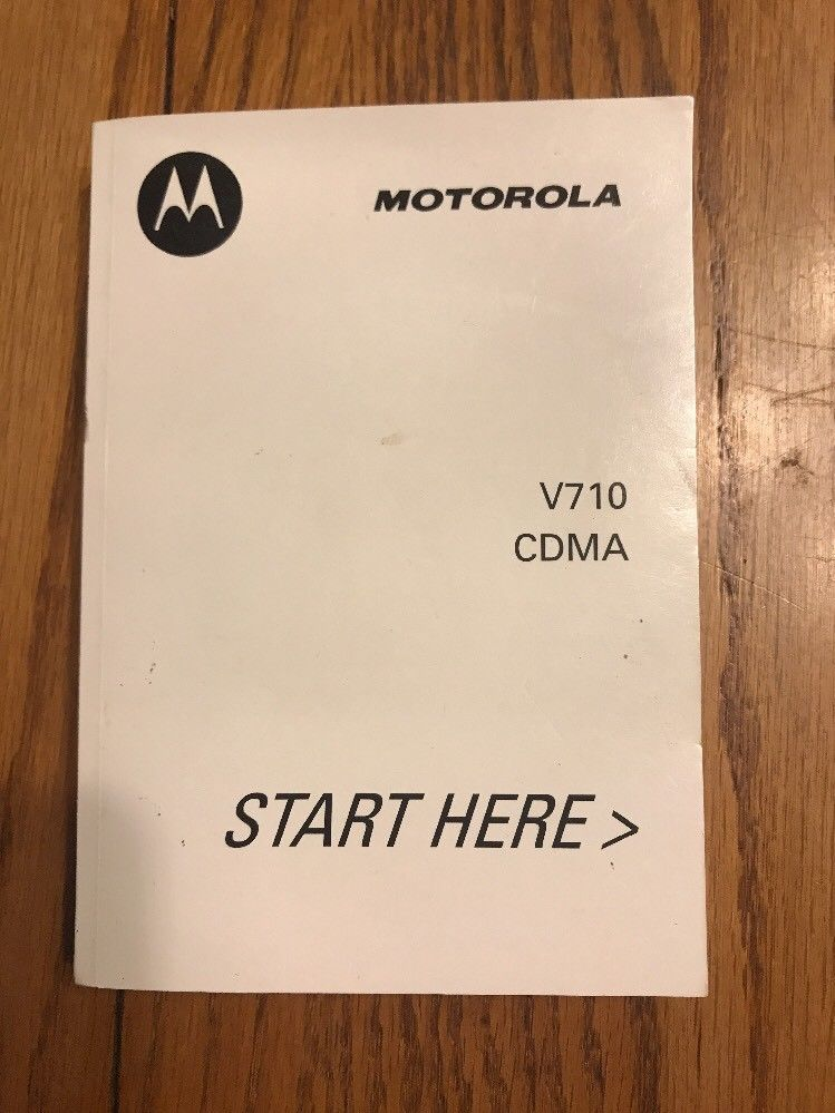 Primary image for Motorola V710 CDMA Instructions See the pictures Ships N 24h