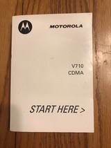 Motorola V710 CDMA Instructions See the pictures Ships N 24h - $11.86