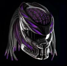Predator Motorcycle Helmet Purple Fire (Dot / Ece Certified) - $355.00