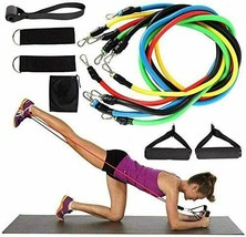 11 PCS Resistance Bands  Portable Set, with Door Anchor, For Home Work o... - $16.81