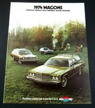 Chevrolet 1974 Wagon Dealer Sales Brochure Caprice Chevelle Vega Original - $8.49