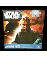 2011 Sealed Star Wars Darth Maul Lenticular 100Pc Jigsaw 3D Effect Puzzl... - $4.99