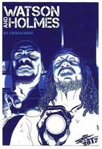 Watson and Sherlock Holmes Promo Postcard Art by Chriscross NYCC 2013 - $4.25