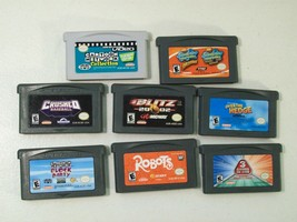 LOT OF NINTENDO GAME BOY ADVANCE GAMES ROBOTS SPONGEBOB BASEBALL OVER HEDGE - $19.55