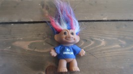"Vintage Troll Doll All American Russ Berrie Company 4"" 80s 90s Red White... - $17.82"