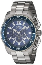 Invicta 21953 Men's 'Pro Diver' Silver-Toned Chronograph Watch - $79.15