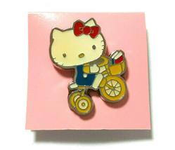 Hello Kitty Pin Badge Bicycle 2006 Super Rare SANRIO Old Retro - $24.31