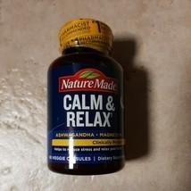 Nature Made Calm & Relax Ashwagandha Magnesium NEW, SEALED 60 caps EXP: 04/2022 - $15.99