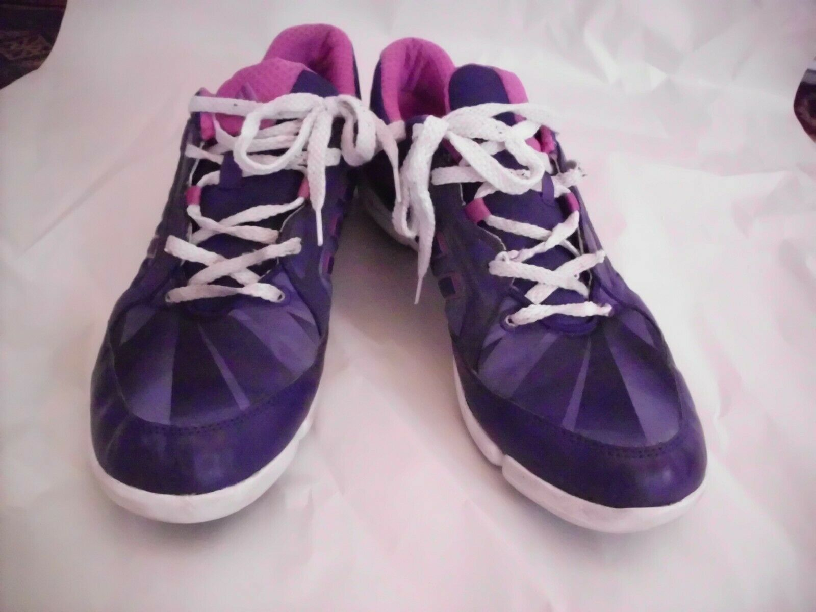 ADIDAS ADIPRENE Sneakers 9.5 Womens Purple Pink White Running Walking