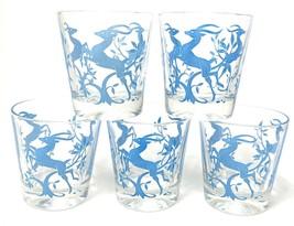 5 Vintage Hazel Atlas ½ Pint Sour Cream Drinking Glass Gazelle MCM CHRIS... - £20.30 GBP