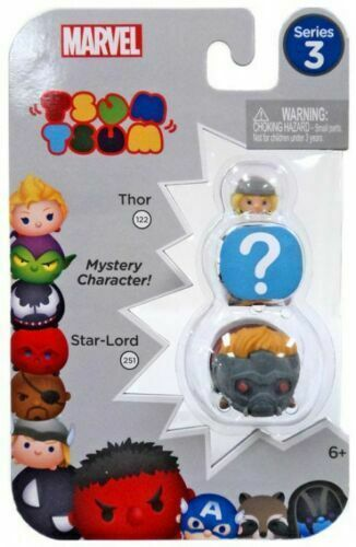Primary image for Marvel Tsum Tsum Series 3 Thor & Star-Lord 1-Inch Minifigure 3-Pack #122 & 251