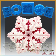 2D Food Grade/Chocolate Silicone Mold – Snowflake # 7 - $28.74