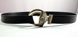 Womens Chicos Adjustable Slide Belt Black Leather Size S / M  - $29.65