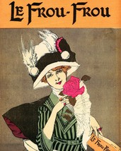 Le Frou Frou: Portrait Girl With Magazine - 1911 - $12.95+