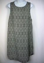 H&M Sleeveless Black White Diamond Print Shift Dress Size 10 - $15.44