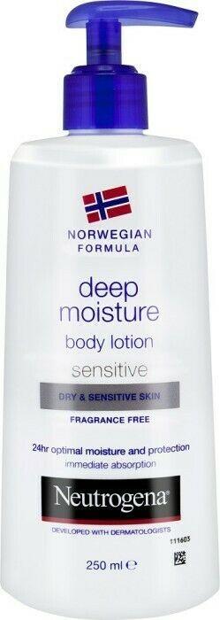Neutrogena Body Lotion Norwegian Formula Dry/Sensitive Skin 250ml/ 8.45oz x 3 No