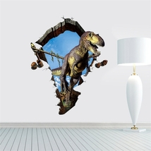 3D Home Decor Dinosaur Removable Wall Stickers, Size: 60cm x 90cm - £8.46 GBP