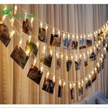 Year Decor Navidad Christmas Tree Decorations 1 M 10 Lamp Photo Clip Led... - $2.96+