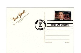 FDC PICTURE POSTCARD- DIRECTOR & PLAYWRIGHT MOSS HART-NY THEATRE DISTRIC... - $1.47