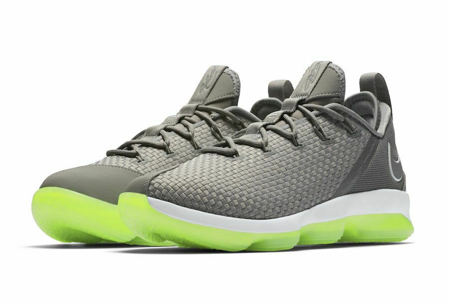 NIke Lebron XIV 14 Low Dunkman Grey/Green/White 878636 -005 Sneakers