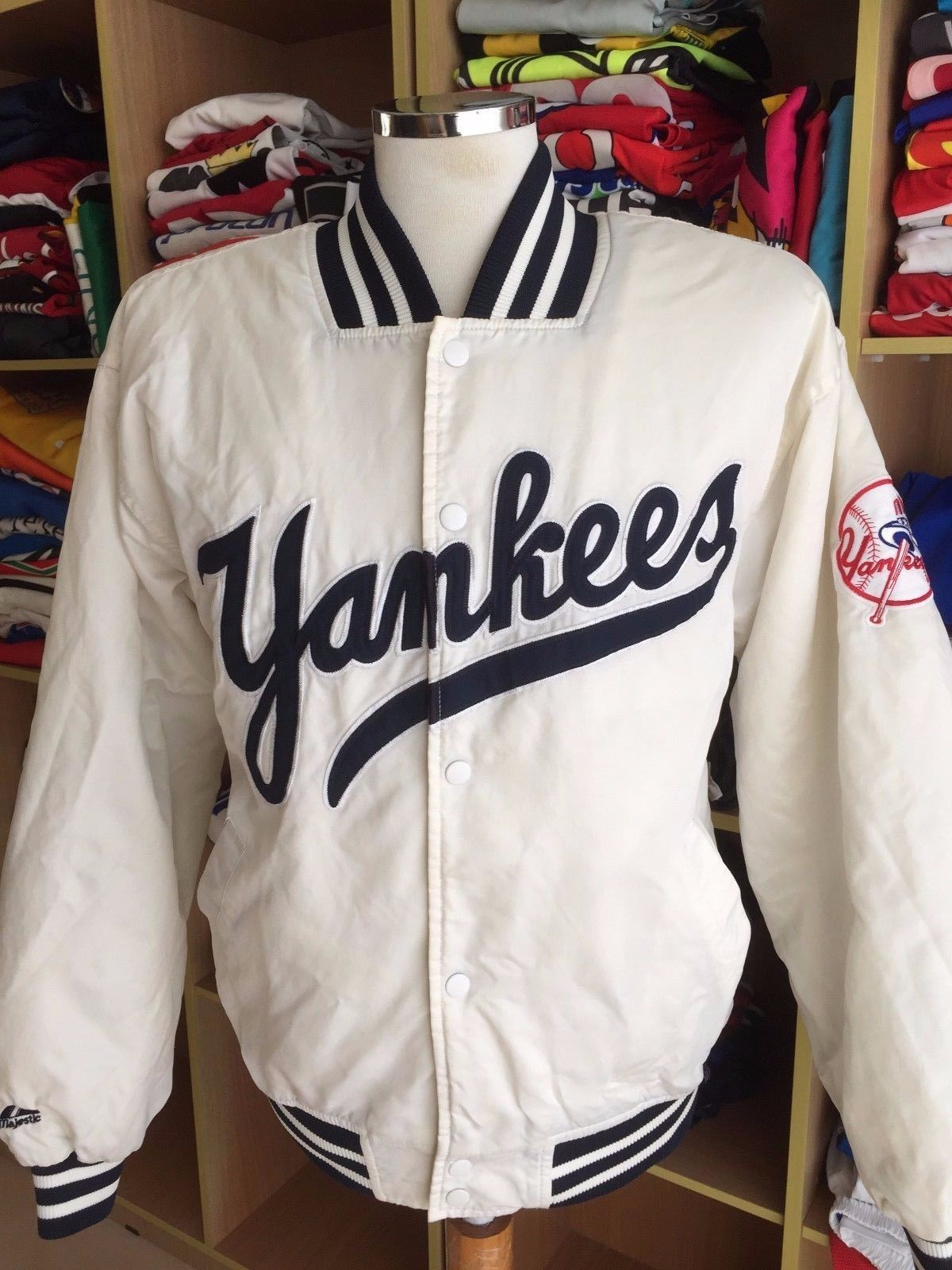 0d2ce9664 Vintage Jacket New York Yankees 90s (M White and 50 similar items. S l1600