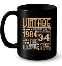 Vintage Born in 1984 34th Birthday 34 Years Old Awesome Gift Gift Coffee... - $13.99+
