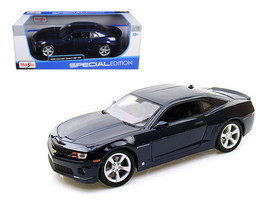 2010 Chevrolet Camaro RS SS Dark Blue with Silver Wheels 1/18 Diecast Mo... - $65.99