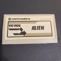 COMMODORE VIC 20 Alien white label tested video game cartridge VIC-1906  - $5.99