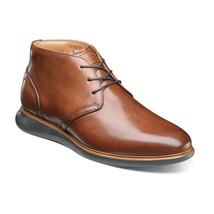 New Florsheim Fuel Plain Toe Chukka Boot Cognac Dressy Leather 14241-221 - $129.99