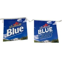 Labatt Blue Beer Hockey Hanging Bar Banner Sign Repeating Design - $13.99