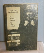 "Vintage Ferlingetti Book Hard Cover in Sleeve ""A Coney Island of the Mind"" - $39.40"