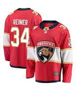 Men's James Reimer #34 Player Jersey Sewn on Florida Panthers 2018 Red New - $75.19