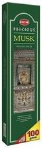 Hem Precious Musk Agarbatti Incense Sticks 100g Pack Meditation Spiritual - $8.99