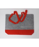 Beyond Scrubs Gray & Red Felt Tote Bag - New - $14.24