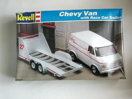 Factory Sealed Revell Chevy Van With Race Car Trailer Kit #7250 - $103.94