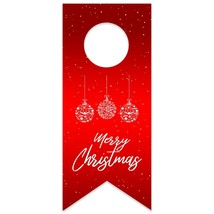 Red Christmas Snowflake Ornaments Water Bottle Hang Tag - $26.24